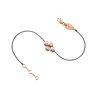Bracelet Quatuor 18K Gold and Diamonds, Full Thread - Rose Gold, GreyStone