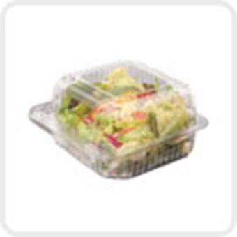 Dart Clear Seal Plastic Hinged Salad Takeaway Bowl 750cc