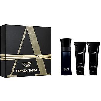 Armani - Code for Men Gift Set EDT 75 ml, na scheerbalsem Code for Men 75 ml en douchegel Code for Men 75 ml - Eau De Toilette - 75ML