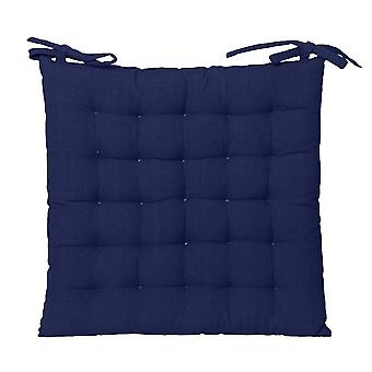 Outdoor Solid Chair Pad 40x40cm Blau