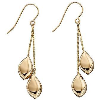 Elements Gold Multi Pebble Drop Earrings - Gold