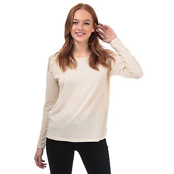 Femmes-apos;s Vero Moda Malena Lace Trim Top in Cream