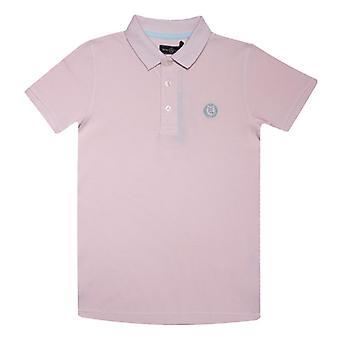 Boy's Henri Lloyd Junior Pop Collar Polo Camisa en rosa