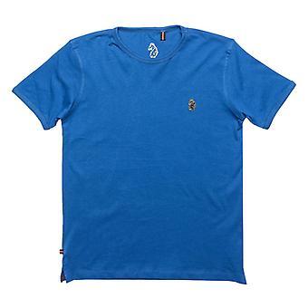 Boy's Luke 1977 Junior Trouser Snake Crew T-Shirt in Blue