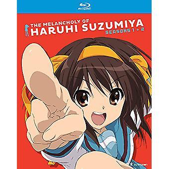 Melankoliskt av Haruhi Suzumiya: Seasons en & två [Blu-ray] USA import