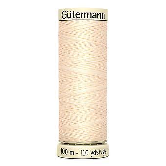 Gutermann sy-alle 100% polyester tråd 100m hånd- og maskinfarvekode - 414