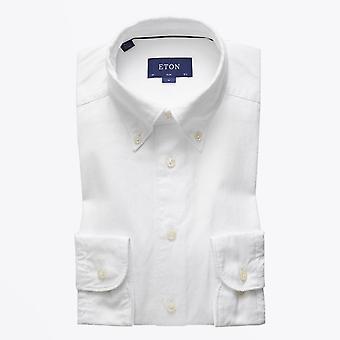 Eton - Button-Down Baumwollhemd - weiß