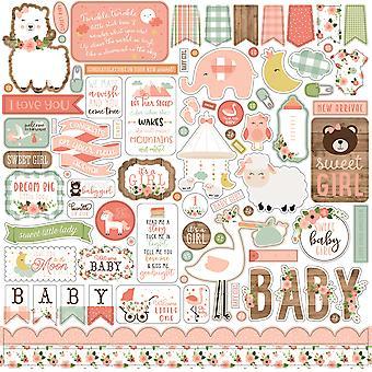 Echo Park Baby Ragazza 12x12 Pollici Elemento Adesivo