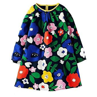 Long Sleeve Princess Tunic Jersey Dress, Big Flower Design, Infant