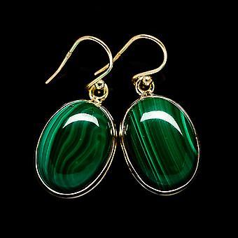 Malachite korvakorut 1 3/8&; (925 Sterling Silver) - Käsintehty Boho Vintage korut EARR403500