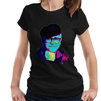 TV Times Elton John Smile Pop Art tyylitelty Naiset's T-paita