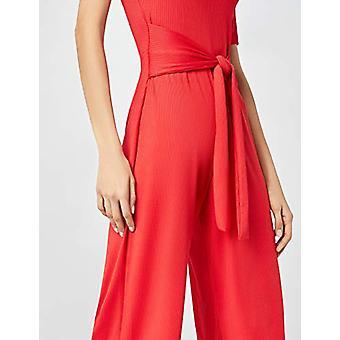 見つける。女性&アポス;sジャンプスーツリブジャージークロップフィット半袖、赤(ROJO)EU S..