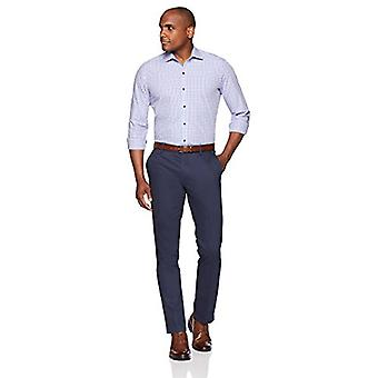 BUTTONED DOWN Men's Slim Fit Supima Cotton Spread-Collar Dress Casual Shirt, ...