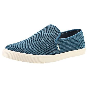 Toms Clemente Womens Slip On Shoes in Sea Blue