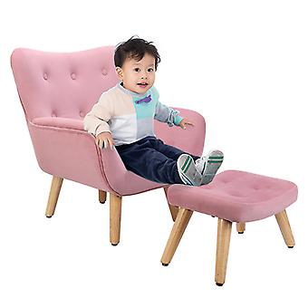 Couch Styled Sofa Children Armchair Seat With Footstool