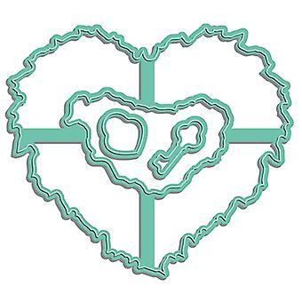 LDRS Creative Heart Wreath Dies