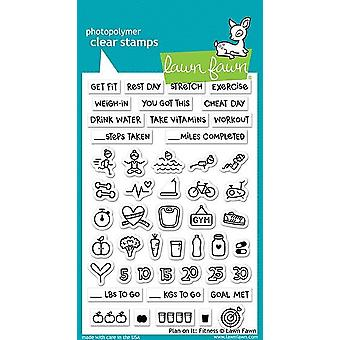 Lawn Fawn Plan On It: Fitness Clear Stamps