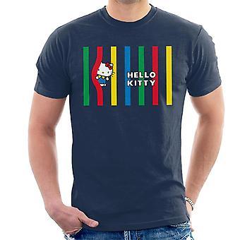 Hello Kitty Monivärinen Lines Miehet's T-paita