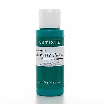 Peinture acrylique Docrafts (2oz) - Vert conifère (DOO 763237)