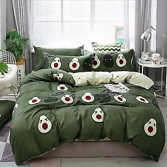Moderne Home Decor Polyester Cartoon Print Bedding Sæt