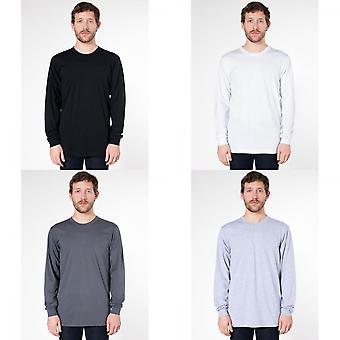 Amerikan Giyim Unisex Düz Uzun Kollu Pamuk T-Shirt