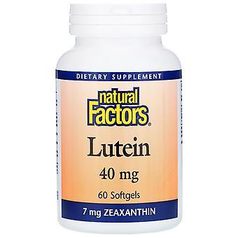 Natürliche Faktoren, Lutein, 40 mg, 60 Softgels