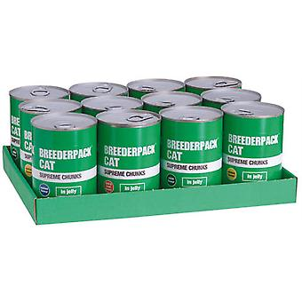 Breederpack Cat Supreme Chunks Variety Large (12 Pack)