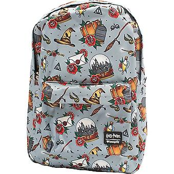 Loungefly X Harry Potter Relics Tattoo Allover-print Backpack (multicolored