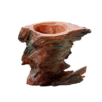 Simulated Wood Resin Decoration Flower Pot Small