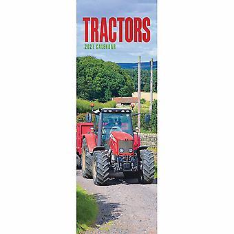 Otter House 2021 Slim Calendar-tractors
