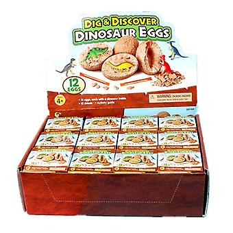 Dig It Up Dinosaur Eggs12 Dino Egg Toys, Stem Learning Kids Activity, Partie
