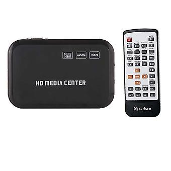 Full Hd 1080p Media Player für Hdmi Vga Av Usb Sd/mmc Port, Fernbedienung