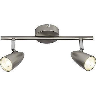 BRILLIANT Lampe Nano LED Spot Tube 2flg jern   2x 4W LED integreret (SMD), (350lm, 4000K)   Skaler A++ til E   Hoveder, der svinger