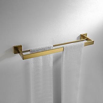 Kylpyhuone - Kahden hengen pyyhe baarit Seinä, Ruostumaton teräs Pyyheteline, kiiltävä hopea