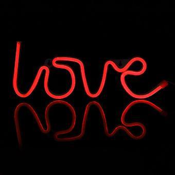 Romantyczne listy miłosne Led Night Light - Ładowanie USB
