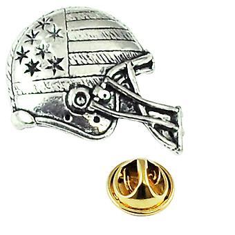 Ties Planet American Football Helm Pewter Revers Penn Badge