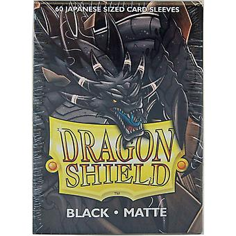 Dragon Shield Matte Japansk Svart 60 Ct i Boksen (Pakke med 10)
