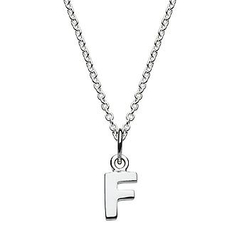 Dew Sterling Silver Dinky F Initial Pendant 9092HPF027
