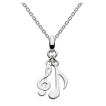 Colgante de dew Sterling Silver Dinky Musical Notes Pendant 9459HP015