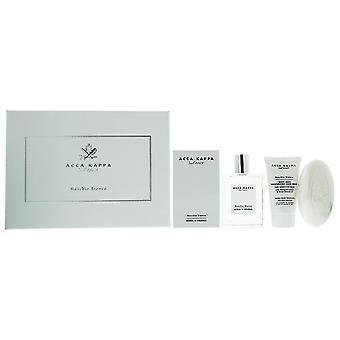 Acca Kappa Muschio Bianco - White Moss Eau de Cologne 100ml, Hand Cream & Soap