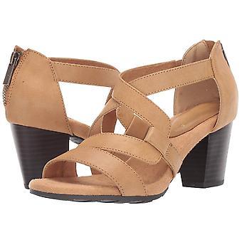 Easy Street naisten hauska mekko rento sandaalin takaisin veto ketju korko