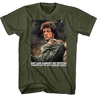 Elke wet tegen mij om iets te eten Rambo T-shirt