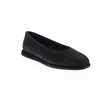 Campista Fidelia Mulheres Black Camurça Deslizamento em Flats Ballet Shoes