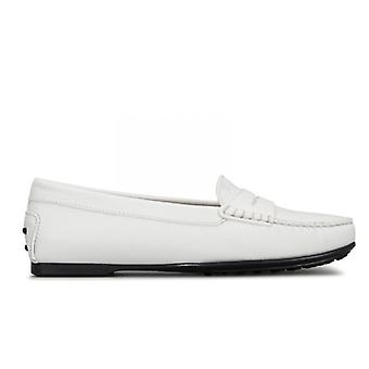 Moccassy City Gommino Tod&s Cuir blanc