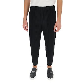 Homme Plissé By Issey Miyake Hp08jf10315 Men's Black Polyester Pants
