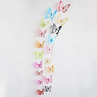 3d Effekt Crystal fjärilar Vägg klistermärke