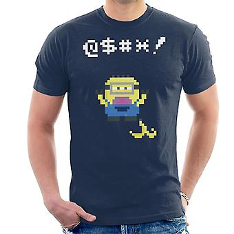 Despicable Me Minion Pixel Swearing Banana Skin Men's T-Shirt