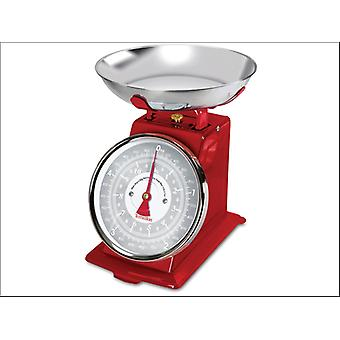 Terraillon Traditional Mechanical Kitchen Scales Red 5kg TRAD500R