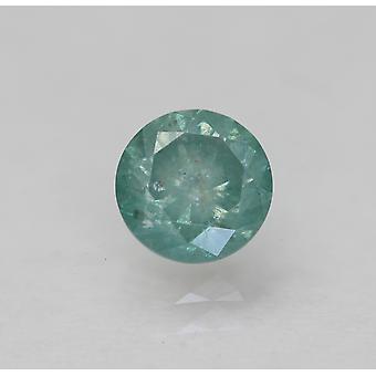 Cert 0.64 Karat blau grün SI3 Runde brillant verbessert natürlichen Diamant 5.25mm