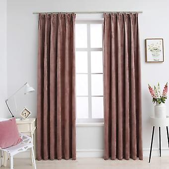 Darkening curtains hook 2 pcs. velvet antique pink 140x225cm